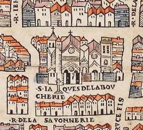 Saint-Jacques de la Boucherie (plan Mérian)