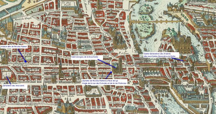 les lieux de Nicolas Flamel dans Paris